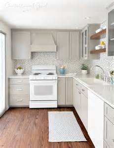 Remodeled Kitchens With White Cabinets gray white kitchen remodel centsational girl