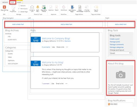 cafeshared how to create a blog how to create a blog site in sharepoint