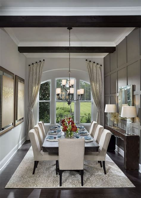 luxury homebuyers  dining room design home david weekly homes