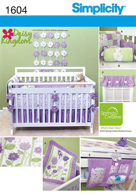 Crib Bedding Patterns Simplicity Simplicity 1604 Nursery Accessories