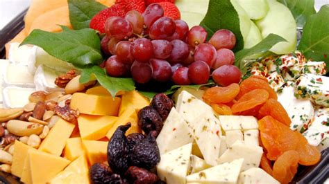 fruit and cheese display fresh fruit and cheese display catered appetizers la