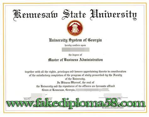 International Top Management Mba Certificate From Fia by American Kennesaw State Mba Certificate