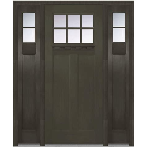 Mmi Door 64 In X 80 In Right Hand Craftsman 1 4 Lite Home Depot Exterior Doors Prices