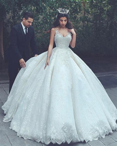 Style Wedding Gowns by Lace Wedding Gowns Princess Wedding Dress Gowns