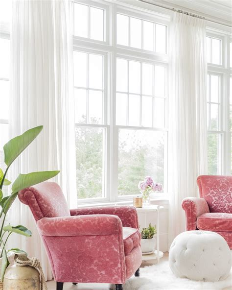 pink living room chairs pink accent chair living room via k marshall design