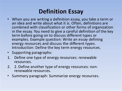 Definition Essay Writing by How Write Definition Essay Tips Best Free Home Design Idea Inspiration