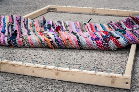 how to make a rag rug loom 25 best ideas about rug loom on rag rug diy rag rugs and rag rugs for sale