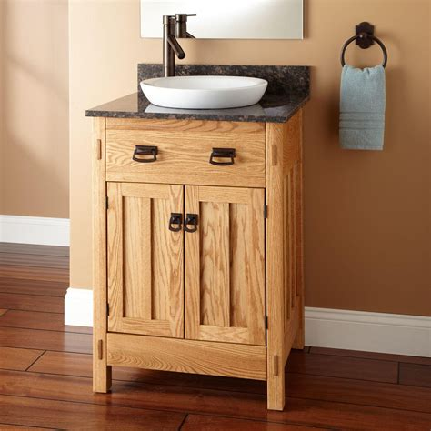Mission Bathroom Vanity by 24 Quot Mission Hardwood Vanity For Semi Recessed Sink Bathroom