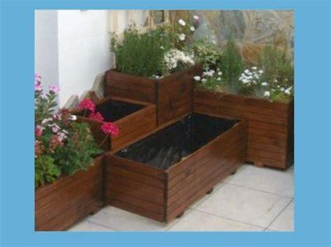 maceteros de madera para interior maceteros de madera facilisimo