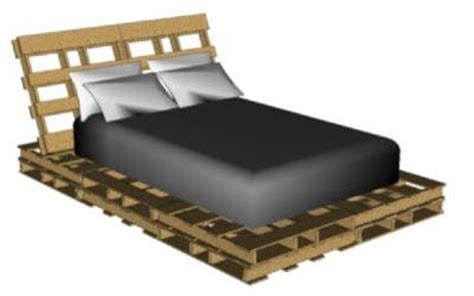 Bouwtekening Pallet Bed zelf een pallet bed maken tips bouwtekeningenpakket