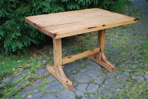 shabby oak wood narrow dining tables for small