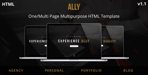 Arch Multipurpose Onepage Multipage Html Template ally one multi page multipurpose html template by junaidhira themeforest