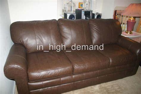 sleep number select comfort queen  brown leather sofa