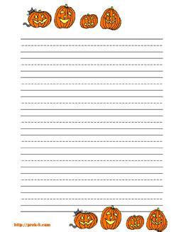 printable pumpkin stationery 5 best images of free printable pumpkin writing paper