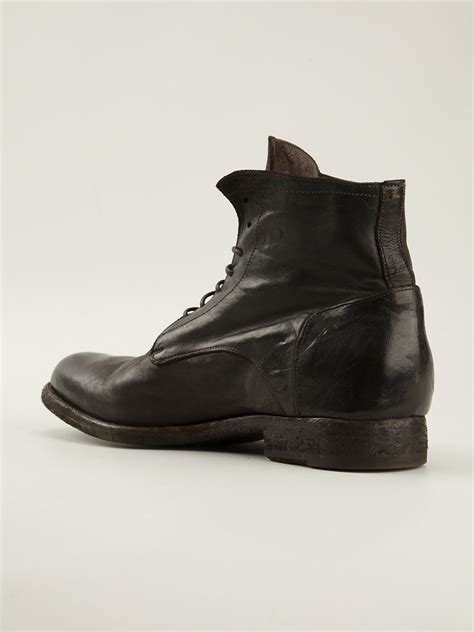 officine creative mens boots officine creative laceup ankle boots in brown for lyst