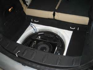 Mini Cooper Spare Tire Location Anyone Put A Sub In The Quot Spare Tire Quot Location In The Back