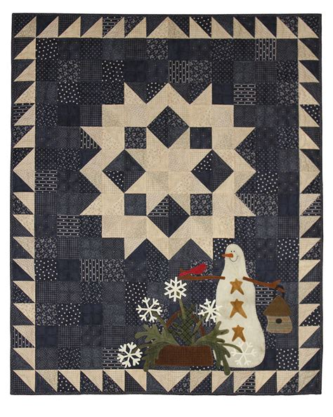 Snowman Gatherings Quilt Pattern by Quilts On Primitive Gatherings