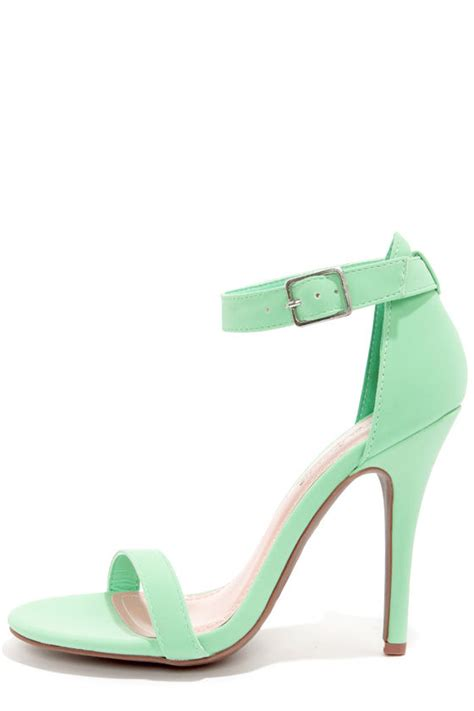 mint colored heels mint green ankle heels oasis fashion