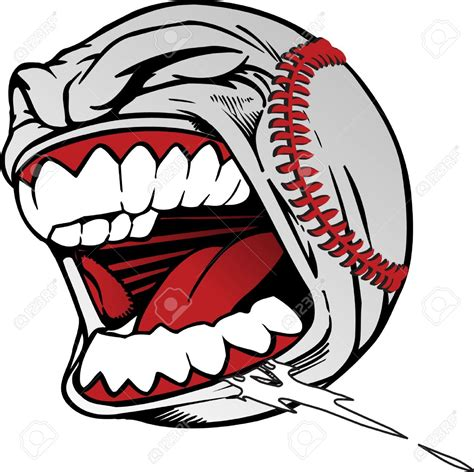 baseball clipart screaming baseball clipart