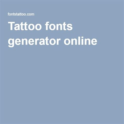 tattoo fonts maker online fonts generator capelli per cleme