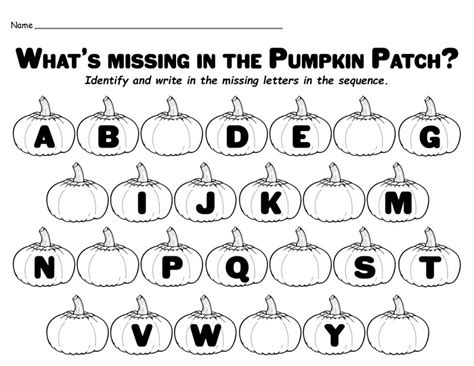 free printable missing alphabet letters quot missing letters in the pumpkin patch quot free printable