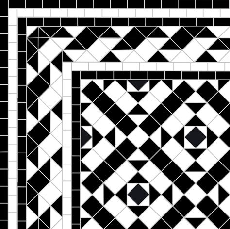 22 black white mosaic path in putney london sw15