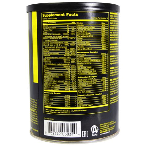 Universal Nutrition Animal Pack 15 universal nutrition animal pak 44 packs nutrition ftempo