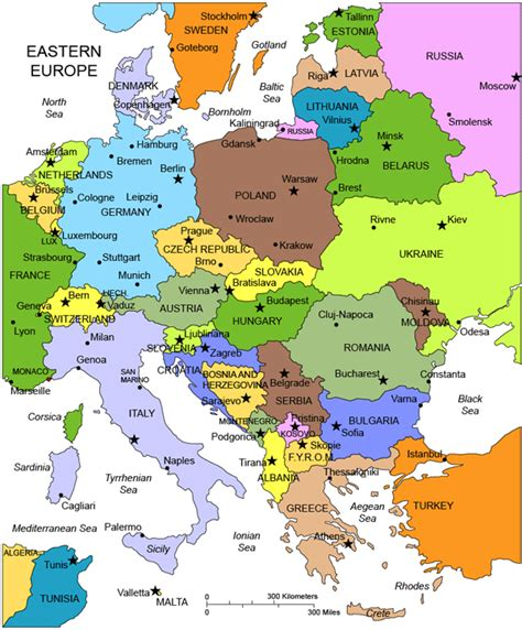 printable map europe countries capitals printable map of europe with capitals and countries