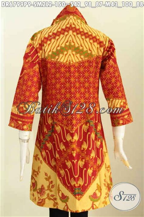 Dress Batik Coklat Motif dress batik motif sinaran warna merah coklat dress tanpa