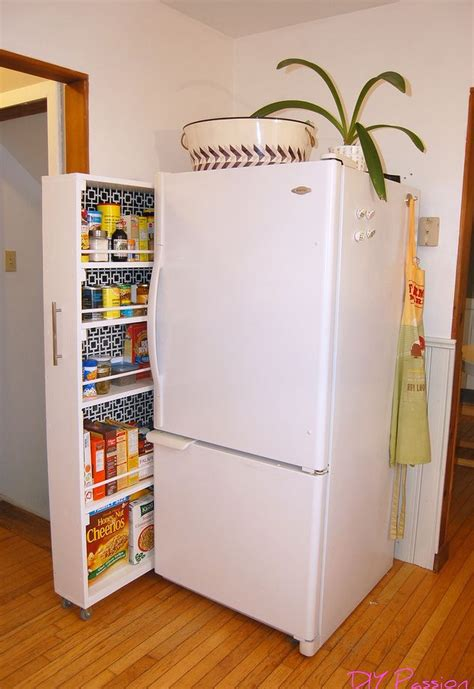 diy kitchen shelving ideas diy space saving rolling kitchen pantry hometalk