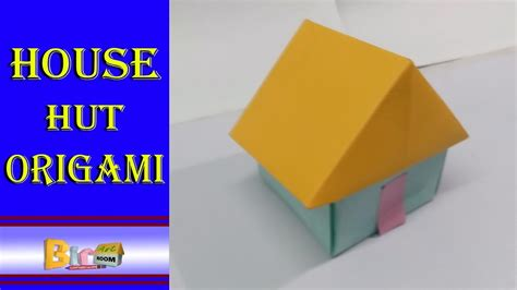 How To Make A 3d House With Paper - how to make a paper 3d house hut origami