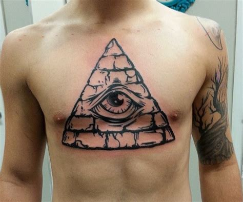 pyramid clock tattoo black ink pyramid with clock on forearm