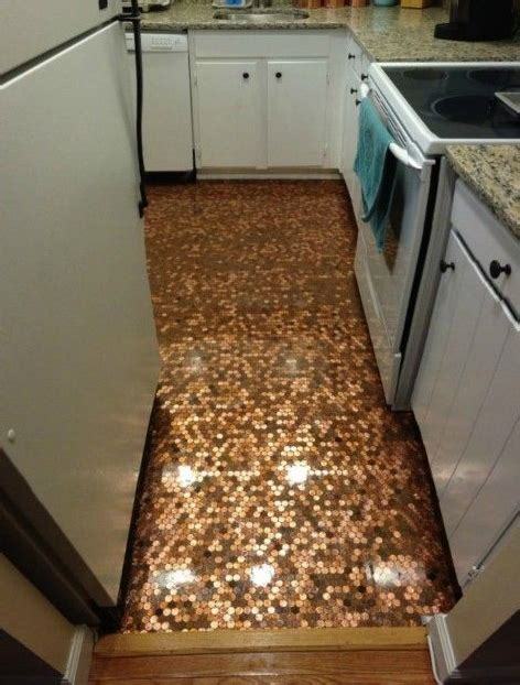 Penny Kitchen Backsplash Pennies Diy Art Floor Backsplash Tutorials