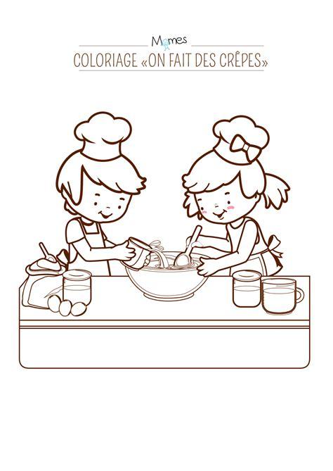 jeux sur la cuisine coloriage quot on fait des cr 234 pes quot momes