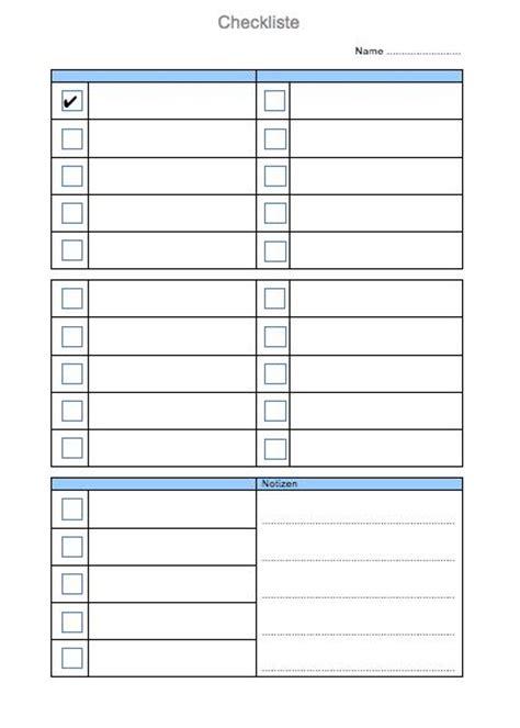 Kostenlose Vorlage Checkliste Checkliste Vorlage Muster Und Vorlagen Kostenlos