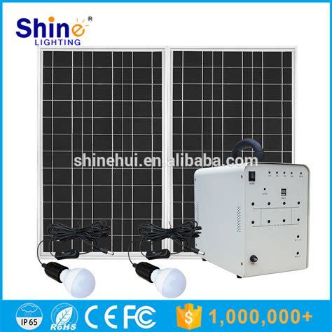 100w solar power generator systems for portable home use