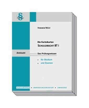 Schuldrecht Bt 1 108 Karteikarten Von Karl Edmund Hemmer