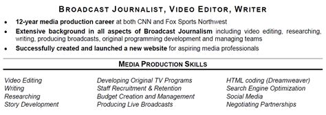 Sle Resume For Journalist Sle Resume Sports Journalism 100 Images Sles Of Journalism Resumes Journalism Free