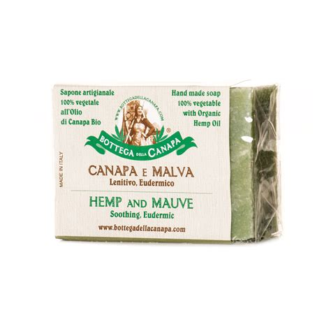 hemp soap with mauve bottega della canapa official