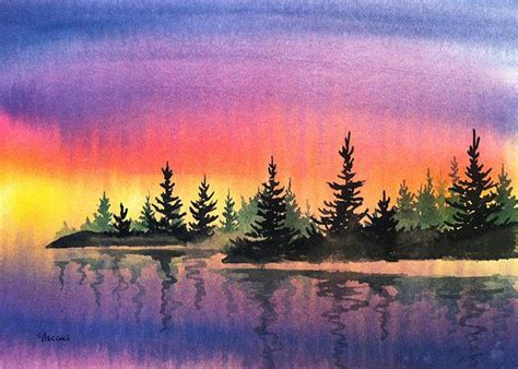 water color sunset 25 best ideas about watercolor sunset on