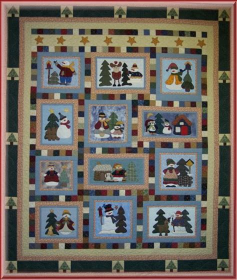 quilt pattern home is where the heart is bom snowman collector quilt