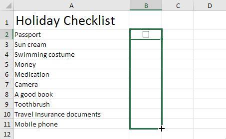 format excel cell as checkbox checklist in excel easy excel tutorial