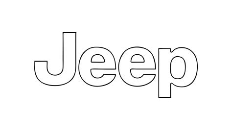 How To Draw The Jeep Logo Symbol Emblem