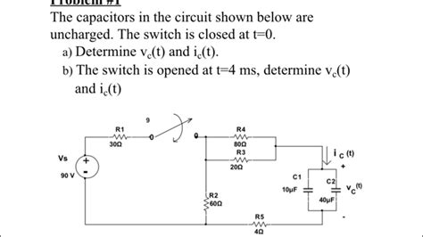 capacitor circuit with switch the capacitors in the circuit shown below are unch chegg