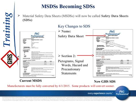 how many sections in sds ghs training approved 9 27 13 ppt03