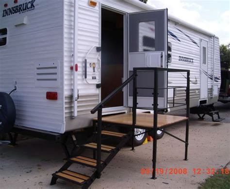 Portable Rv Porch Steps portable rv steps decks and porches for 5th wheels motorhomes and cers gallery rving