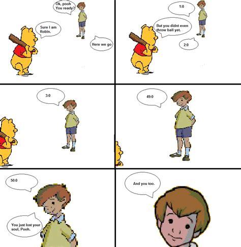 Christopher Robin Meme - awkward zombie view topic pooh s baseball deathmatch