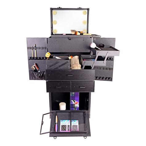 professional makeup case with lights rebel pro series makeup artists multifunction lighted