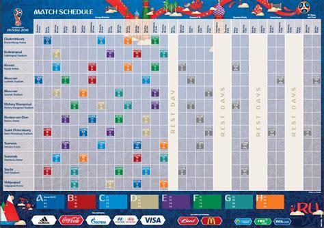 Calendario De Juegos Revelan El Calendario De Juegos Mundial De Rusia 2018