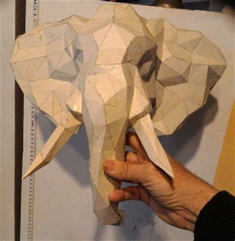 Elephant Papercraft - new paper craft elephant wall hanging decoration